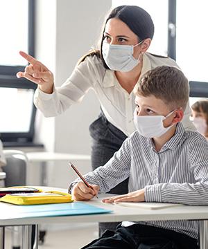 Teacher-student-mask